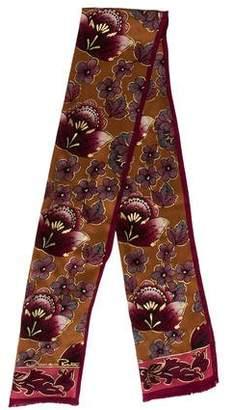 Oscar de la Renta Floral Silk Scarf