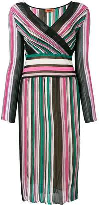 Missoni striped wrap dress