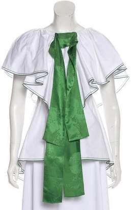 Rosie Assoulin Silk-Trimmed High-Low Tunic