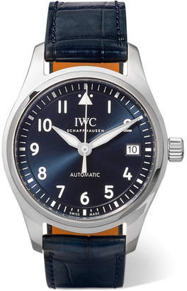 IWC SCHAFFHAUSEN - Pilot's Automatic 36mm Alligator And Stainless Steel Watch - Silver
