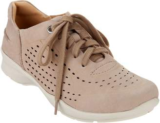 Earth Perforated Leather Lace-up Shoes - Serval