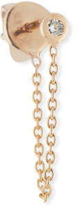 Kismet by Milka 14k Diamond Chain Dangle Single Earring
