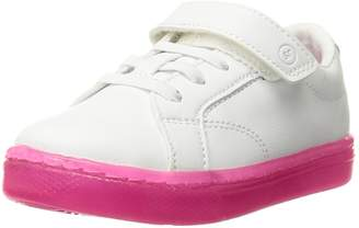 Stride Rite Girl's Lighted Ray Shoes, White/Pink