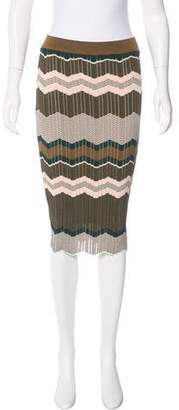 Ronny Kobo Patterned Knit Skirt w/ Tags
