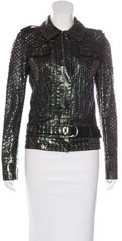 Roberto CavalliRoberto Cavalli Iridescent Leather Jacket