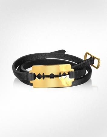 McQ Alexander McQueen McQ - Razor Triple Leather Bracelet