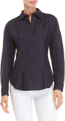 Ladies Tops That Button Up At The Back Shopstyle