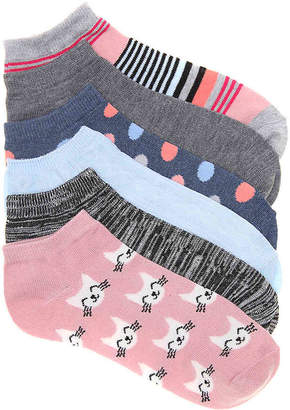 Kelly & Katie Cats No Show Socks - 6 Pack - Women's
