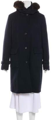 Loro Piana Fur-Trimmed Knee-Length Coat