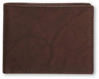 Tasso Elba Cow Antique Bifold Passcase Wallet
