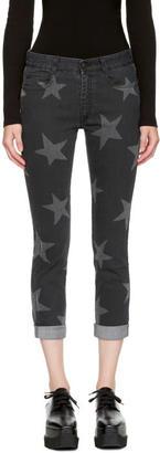 Stella McCartney Black Cropped Skinny Boyfriend Jeans