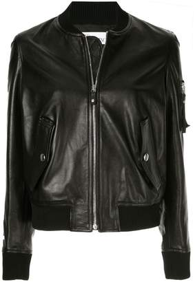 RED Valentino leather bomber jacket
