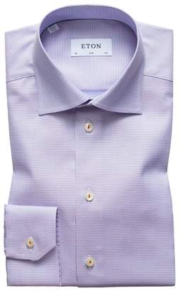 Eton Slim Fit Check Dress Shirt