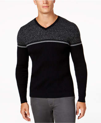 Alfani Men Texture Stripe V-Neck Sweater