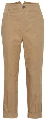 Brunello Cucinelli High-waisted cotton pants