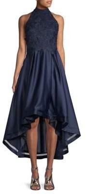 Nicole Miller 3D Lace Cocktail Dress