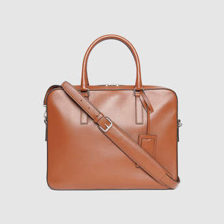 Sandro Small grained leather briefcase