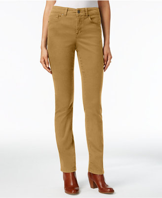 Style & Co Evening Olive Wash Straight-Leg Jeans, Only at Macy's $49 thestylecure.com