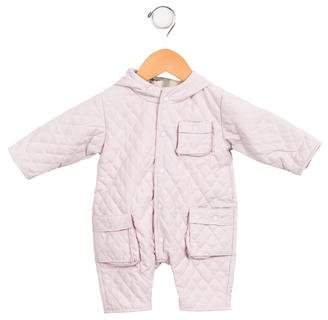 Burberry Girls' Quilted Snowsuit