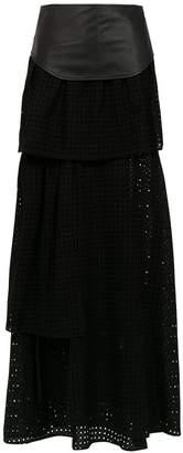 Andrea Bogosian long high waisted skirt