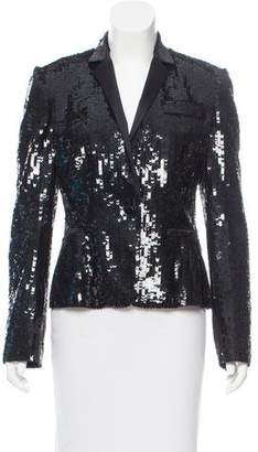 Dolce & Gabbana Sequined Notched-Lapel Blazer w/ Tags