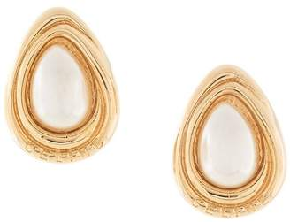 Celine Pre-Owned teardrop pearl earrings