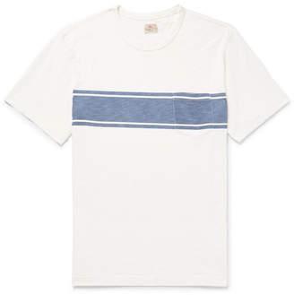 Slim-Fit Striped Slub Cotton-Jersey T-Shirt