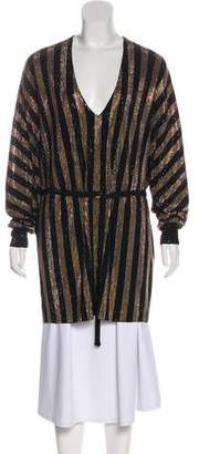 Balmain Sequin Long Sleeve Tunic