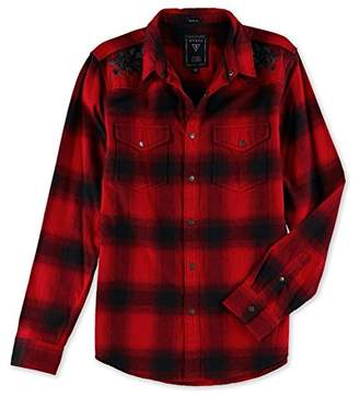 GUESS Men's Shuttleworth Plaid Button Down Shirt