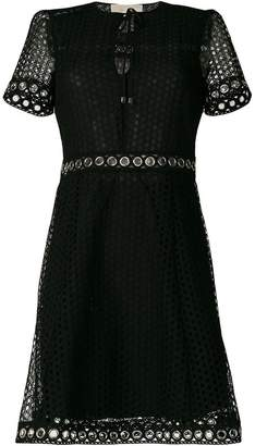 MICHAEL Michael Kors grommeted lace dress