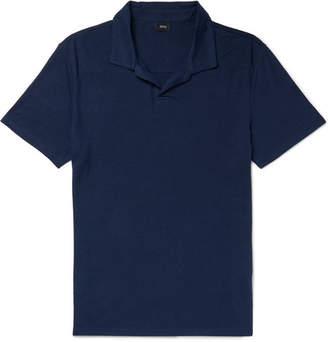 Onia Slub Linen-Blend Polo Shirt