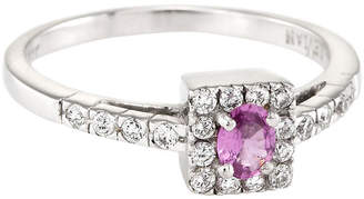 One Kings Lane Vintage Le Vian Pink Sapphire Diamond Ring - Precious & Rare Pieces