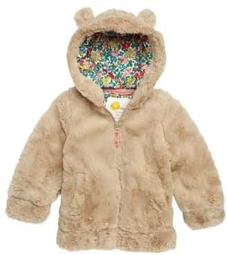 Boden Mini Cozy Teddy Faux Fur Hoodie