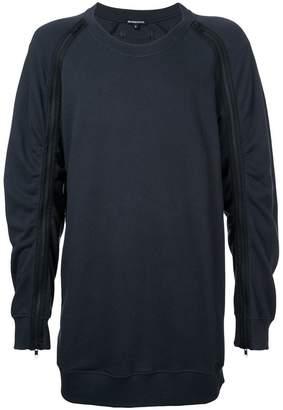 Ann Demeulemeester zipped sleeve sweatshirt