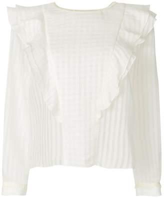 Vilshenko ruffle trim blouse