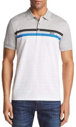 BOSS Paddy Striped Regular Fit Polo Shirt