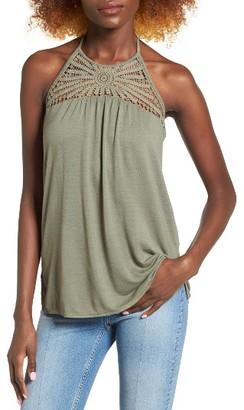 Women's O'Neill Palla Crochet Trim Halter Tank $38 thestylecure.com