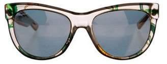 Gucci Floral Wayfarer Sunglasses