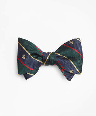 Brooks Brothers Argyll and Sutherland with Golden Fleece Stripe Bow Tie