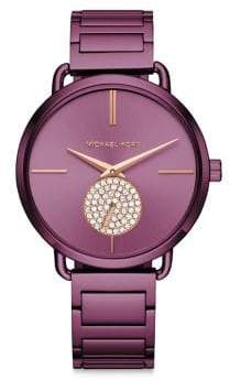 Michael Kors Portia Crystal& Stainless Steel Bracelet Watch