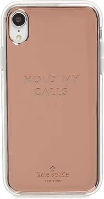 Kate Spade hold my calls iPhone X/Xs & XR case