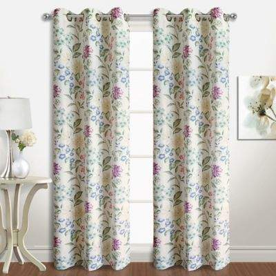 Christine 84-Inch Grommet Top Window Curtain Panel Pair