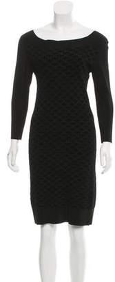 The Row Jacquard Knit Knee-Length Dress