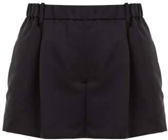 No.21 No. 21 - Crystal Embellished Tailored Mohair Blend Shorts - Womens - Black