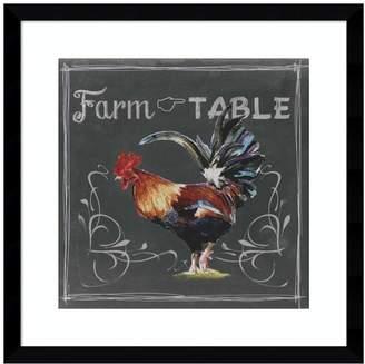 Amanti Art Chalkboard Farm Animals III Rooster Framed Wall Art