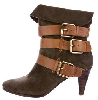 Rebecca MinkoffRebecca Minkoff Suede Buckle-Accented Ankle Boots