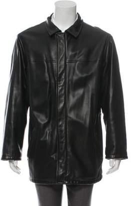 Loro Piana Leather Car Coat black Leather Car Coat