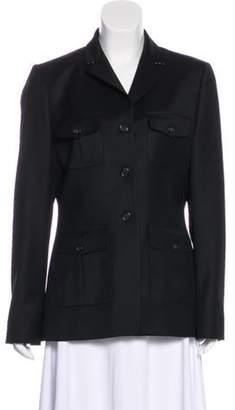 Burberry Wool Long Sleeve Jacket Black Wool Long Sleeve Jacket