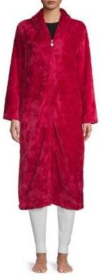 Karen Neuburger Textured Shawl Collar Robe