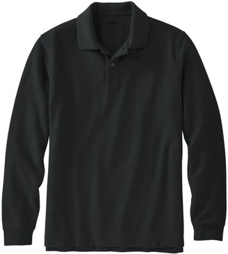 L.L. Bean L.L.Bean Men's Premium Double LA Polo, Long-Sleeve Without Pocket